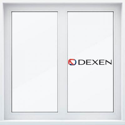 двухстворчатое окно пвх dexen